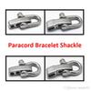 5mm 4 holes U shape paracord bracelet steel adjustable shackle with screw pin