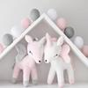 Unicorn Plush Doll Toy Baby Cute Bolster Pillow Boys Girls Room Decorate Ornaments Kids Animals Stuffed PP Cotton Soft Popular Bowknot