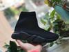 Zapato de calcetín todo negro