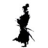 12cm*23.6cm Samurai Design Ninja Oriental Sword Fashion Vinyl Car Sticker Decals Black Silver Accessories S6-4037