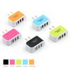 3 USB Wall Charger LED Travel Adapter 5V 3.1A Triple Ports Chargers Home US EU Plug For Samsung S8 Note 8 iPX