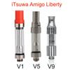 Original itsuwa AMIGO Liberty V1 cartridge V5 V9 Co2 Vaporizer .5ml 1ml Pyrex Glass Tank thick Oil Atomizer For 510 battery vape pen