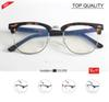 2019 Designer Brand Club eyeglass Master Men prescription frame Women Semi Rimless Retro eyewear Oculo De Sol Feminino retro clear lens 5154