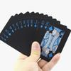 Quality Plastic PVC Poker Magic Waterproof Black Cool Playing Cards Good Elastics Creative Gift Durable Poker NY085