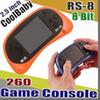 RS-8 Video Game Console 8 Bit 2.5 inch Portable Handheld Game Player Tetris Different Games Children's Game Color