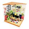 Robud New year Gift DIY Miniature Doll House with Furniture Chirstmas Present Mini Dollhouse Exquisite Toys for Children DG106