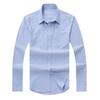 2018 new autumn and winter men's long-sleeved cotton shirt pure men's casual POLOS shirt fashion Oxford shirt social brand clothing lar