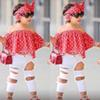 baby Girls Set Clothes Kids Fashion Top Pant Two Piece Children Summer Suit Girls Boutique Outfits BB430