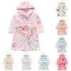 Winter Children Flannel Bathrobes Nightwear 2018 Fashion Boys Girls Pajamas Hooded Bathrobe Soft Bath Robe Cute Kids Robe