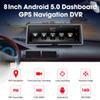 XGODY 3G 8 Inch Car DVR GPS Navigation Touch Screen Android 5.0 Navigator 16GB ROM Bluetooth WiFi Dash Rear View Camera HD 1080P
