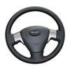 Nappa Leather Braid On Car Steering Wheel Cover for first old Toyota Auris 2007-2010 old collora braid on the steering wheel