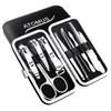 10 in 1 ATOMUS Nail Manicure Set Fashion Carbon Steel flexible Clippers Manicure Sui Fashion Beauty Tools Pedicure Knife Cut Suits Gift