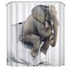 1 Pc Wholesale Bathroom Fabric Shower Curtain Elephant Thinkers Polyester Waterproof Washable Shower Bath Curtain180cm x 180cm