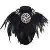whole saleLuxury Design Charm Jewelry Exaggerate Black Feather Collar Necklace Crystal Pendant Statement Fashion Chokers Necklaces