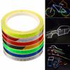 8m*1cm Colorful Reflective Stickers Strip Motorcycle Bicycle Fluorescent Reflector Safety Rim Decal Tape for Motorbike Bike