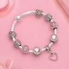 Bracelet Coeur Rose 18CM (DIA 60MM)