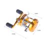 Full Metal 2+1BB Ball Bearings Right Hand Drum Wheel Boat Sea Fishing Reel Horizontal CL40