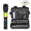 Tactical Flashlight 1000 Lumens Zoom able IPX6 Waterproof Handheld Flashlight With Hidden COB Lighting for Camping Hiking Emergency Biking