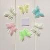 6PCS Set Luminous Double Layer Butterfly Sticker Wall Sticker Decoration Fluorescent Living Bedroom Home Decor QW8296