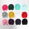 12 colors Cute Infant Toddler Unisex Ball Knot Indian Turban Kids Spring Autumn Caps Baby Donut Hat Solid Color Cotton Hairband C5244