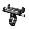 "Aluminum Universal Bicycle Phone Mount Holder MTB Mountain Bike Motorcycle Handlebar Clip Stand for 3.5"" to 6.2"" Smartphones"