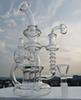 Recycler bong new glass water pipe with thick 4mm quartz banger oil burner glass oil rig 14.4mm joint or buy smoking accessories