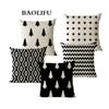 BAOLIFU 45x45cm Linen Pillow Cover Christmas Geometry Cushion Covers for Sofa Bed Nordic Decorative Pillow Case A135