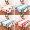 Santa Claus New Year Xmas Christmas Tablecloth For Kitchen Dining Table Decorations Home Party Table Covers QW8552