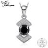 JewelryPalace Elegant Genuine Black Spinel Pendnat Necklace 925 Sterling Silver Fine Jewelry Bestfriend Gift Without Chain New
