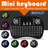 Portable Rii i8 Mini Wireless Keyboard Touchpad Game LED Backlight 2.4G Air Mouse Remote Control Handheld For Android TV Box S905W S912 MXQ