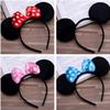 6 Color Girls hair accessories Mouse ears headband Children hair band Baby kids cute Halloween Christmas cosplay headdress hoop B