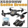 XS809HW Quadcopter Aircraft Wifi FPV 2.4G 4CH 6 Axis Altitude Hold Function RC Drone with 720P HD 2MP Camera Drone RC Toy Foldable Drone