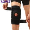 1PCS Knee Brace with Polycentric Hinges Professional Sports Safety Knee Support Black Pad Guard Protector Strap joelheira