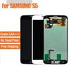 For Samsung Galaxy S5 i9600 G900F G900H G900M G900 White black Touch LCD Screen display Digitizer Replacement free shipping
