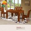 100% solid wood small apartment modern Chinese solid wood dining table and chair combination strip oak solid wood dining table