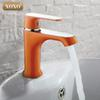 XOXO Innovative Fashion Style Home Multi-color Bath Basin Faucet Cold and Hot Water Taps Green Orange White 20015W20025R 20035GR
