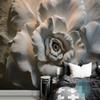 Custom Mural Wallpaper Wall Painting 3D Relief Rose Flower Wallpaper For Living Room Sofa TV Background Wall Mural Home Decor 3D