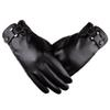 2018 Winter Men Gloves Thermal Sports Leather Gloves 2018 Full Finger Outdoor Bicycle Solid Leather Men Mitten