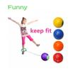 Funny children exercise one foot skip hard ball plastic jump ball foot hula hoop skipping rope ball toy outdoor toys kids gift