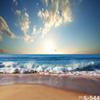 5x7ft Vinyl Sunrise Sunset Beach Photography Studio Backdrop Background