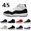 High Quality 11 Space Jam Bred Concord Basketball Shoes retro Men Women 11s Gym Red Midnight Navy Gamma Blue 7-10 Sneakers