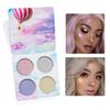 2018 new4colour HANDAIYAN Chameleon Highlighter Palette Face Contour Makeup Highlighting Bronzer Glow Aurora Shimmer Eyeshadow Cosmetic Kit
