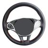 Handsew soft 38cm car steering wheel cover made of best new microfiber leather widely used on Volkswagen Buick Toyota Honda Hyundai BMW ETC