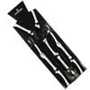Winfox Fashion Hip Hop Black Skull Bone Print Clip-on Y-Back Elastic Braces Suspenders For Women Mens Party