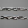 2 PCS of set Custom Chrome silver PVC XR6 XR 6 car emblem badge rear fender side sticker logo accessorie For HSV