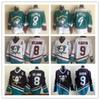 Vintage Anaheim CCM Mighty Ducks Wild Wing Jersey 9 Paul Kariya 8 Teemu Selanne Retro Best Stitched Hockey Jersey