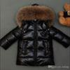 New 2016 Winter Coats kids Jackets Real Large Raccoon Fur Collar boy's Down & Parka white red shiny, black matte down jackets