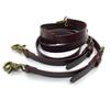 brown color cowhide suspender genuine leather suspender hook lock retro free shipping