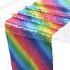 Rainbow Color Table Runner for Wedding Party Table Decoration Bling Sequins Tablecloth for Birthday Party