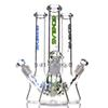 "Limited Edition BONGLAS Zob Hitman mini bottom beaker bong glass 10"" Rasta small Ice water pipes 18.8mm dab oil rig bongs pipe"